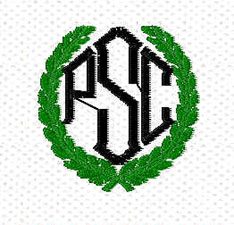 PSC monogram framed by crest
